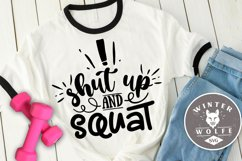 Shut up and squat SVG EPS DXF PNG Product Image 1