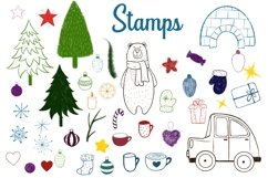 50 Procreate Christmas Stamps and Brushes Product Image 3