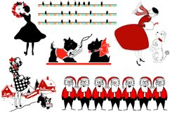 Retro Mid Century Black and Red Christmas AI EPS PNG Product Image 4