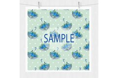 Blue Floral Digital Paper Pack Product Image 3