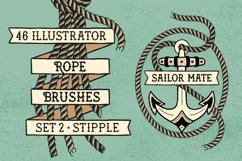 Sailor Mate's Rope Brushes II - Stipple Product Image 1