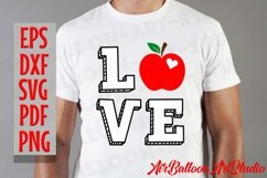 Teacher Svg Teach Love Svg School Svg Love School SVG Love S Product Image 13