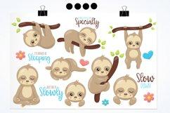 Sleepy sloth graphics and illustrations Product Image 2