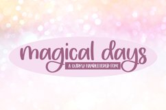 Magical Days - A Quirky Handlettered Font Product Image 1