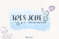 Trés Jolie - Serif Font with Doodles Product Image 1