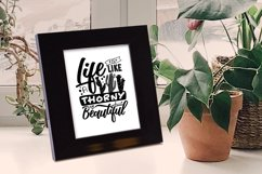Life is like a cactus... - Vector Typography Design Product Image 2