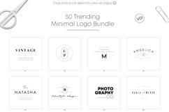 50 Trending Minimal Logo Bundle V01 Product Image 6