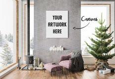 Christmas Interior Bundle - Frame & Canvas Mockup Creator Product Image 4