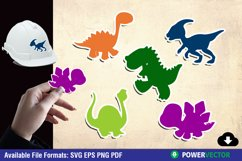 Dinosaurs SVG | Kiddie Animals Sticker Clipart Product Image 1