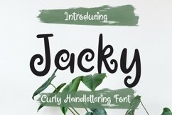Web Font Jacky - Curly Handlettering Font Product Image 1