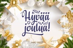 Finnish Christmas in different languages Hyvaa joulua svg Product Image 6