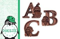 Gnome letters 3D multi layer mandala layered alphabet bundle Product Image 8