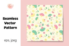 Colorful Daisy Flowers Digital Paper, Seamless Pattern Product Image 1