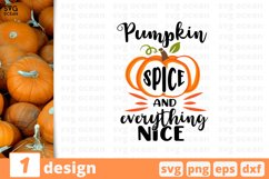 Thankful Spice and everything nice | Thanksgiving Day Svg Product Image 1