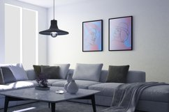 Abstract portraits wall art, Abstract modern painting print Product Image 3