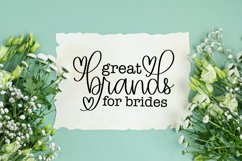 Browing - A Script With Hearts & Swooshes Product Image 3