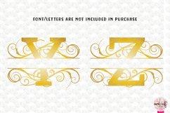 Split Monogram Swirls - A to Z Split Monograms Product Image 5