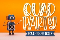 Quad Party - A Crazy Four Font Family Product Image 1
