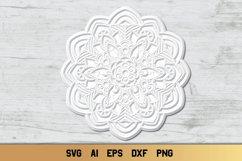 Mandala SVG 3d Layered | Multi Layer SVG | Floral Cut File Product Image 6