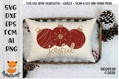 Joyful Christmas Ornament Bauble Winter SVG Product Image 1