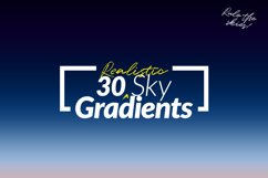 30 Realistic Sky Gradients for Photoshop & Illustrator Product Image 1