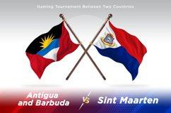 Antigua vs Sint Maarten Two Flags Product Image 1
