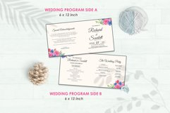 Wedding Invitation Set #8 Watercolor Floral Flower Style Product Image 5