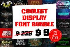 Coolest Display Font Bundles Product Image 1