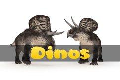 Cute Dino Dinosaur Font Product Image 6