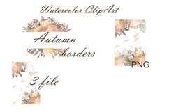 Autumn floral borders Watercolor Product Image 2
