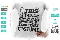 This is My Scary Secretary Costume SVG Cut File Product Image 1