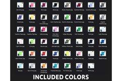 Gildan 5000, 2000, 64000 Mockups 47 Colors Flat Lay White Bg Product Image 3