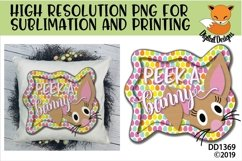 Peek A Boo Easter Bunny Sublimation Product Image 1