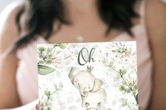 Elephant Safari Baby shower Invitation boy Product Image 2