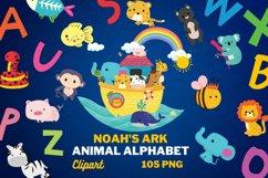 NOAH'S ARK Clipart, 105 png Clipart files, ALPHABET Product Image 1