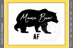 Mother's Day SVG, Mama Bear AF Product Image 1