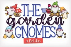 Web Font The Garden Gnomes - A Script & Print Duo Product Image 1