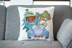 Christmas Cars Boys. Watercolor holiday clipart, vintage Product Image 3