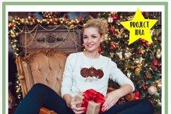 Joyful Christmas Ornament Bauble Sublimation Product Image 2