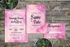 Abstract Pink And Vanilla Painting Wedding Invitation Set Product Image 2