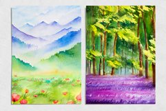 Spring Landscapes. Watercolor. Product Image 5