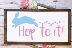 Hop to it svg, easter svg, bunny svg Product Image 2