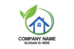 Eco House Logo Design Vector Product Image 1