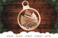 Believe Christmas Tree Ornament SVG DXF Cut Files Product Image 5