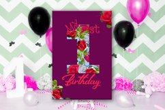 Birthday Card, Happy First Birthday,Cute 1st Birthday, SALE Product Image 4