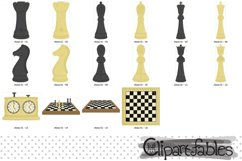Cute CHESS clipart, Sport clipart for kids, INSTANT download Product Image 2