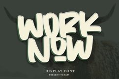 Worknow | Display Font Product Image 1