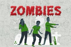 Dripping Zombie Halloween Font Product Image 6