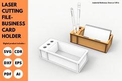 Business Card Holder - SVG - Laser cutting File Product Image 1
