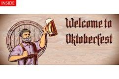 Vector Flyer Invite Copyspace Beer Glass Oktoberfest Man Product Image 4
